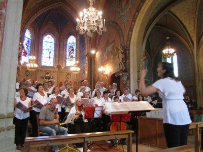 Juillet 2012- concert choeur Cantelandes et l'ensemble baroque Affettuoso- Ychoux