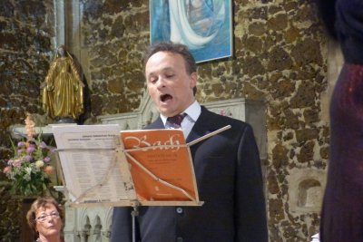 28 juin 2015-Biscarrosse- Concert Cantate BWV 131 et autres extraits de JS Bach : Cantelandes-Ensemble baroque Affettuoso- ténor soliste Olivier Bekretaoui