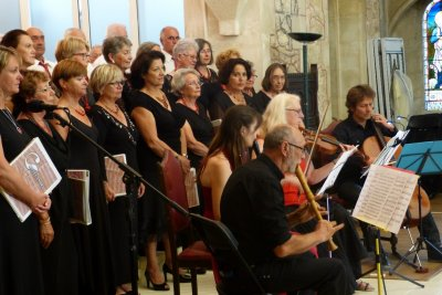 5 juillet 2015: Arcachon- concert cantate BWV 131 et autres extraits de Cantates de  JS Bach- Cantelandes- Affettuoso et le ténor Olivier Békrétaoui