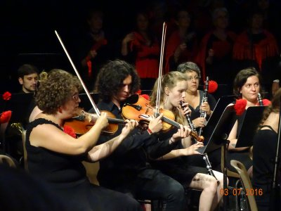 """3 juillet 2016 - Concert """"Carmen mon amour""""- Arcanson de Biscarrosse: Cantelandes+Chorale des Dunes+Ensemble instrumental de Pontenx+soliste (Caroline Lafont-Caroline Gy-Christophe Belliveau_Bertrand Monbaylet)"""